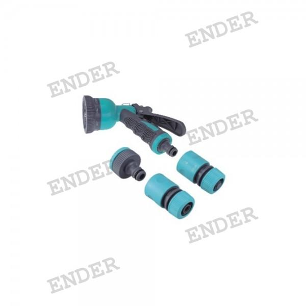 """Набор для полива Ender для шланга 1/2"""" c пистолетом 8 положений (1716105B)"""