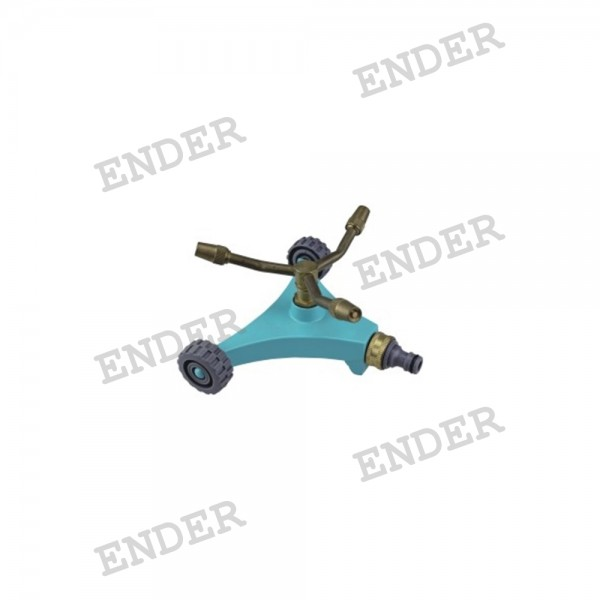 Дождеватель Ender круговой на подставке с колесами латунный  (222402)