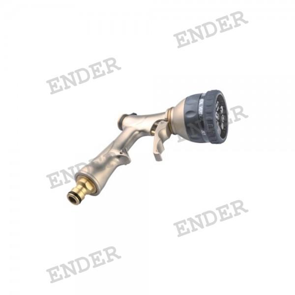 Пистолет для полива Ender 8 режимов полива с латунным адаптером (276037)