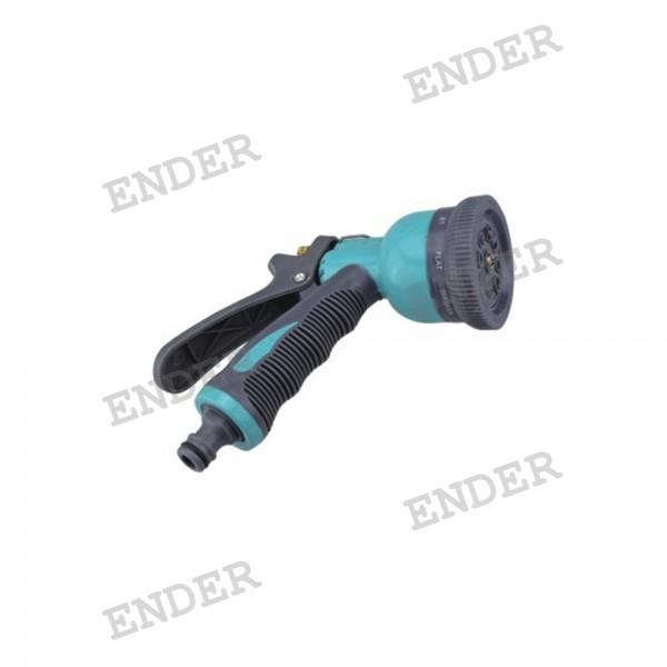 Пистолет для полива Ender 8 режимов полива металл (304124)
