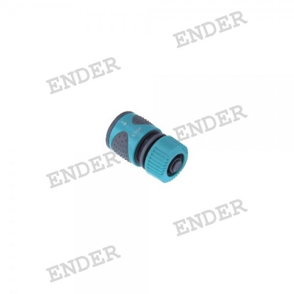 """Коннектор с клапаном  1/2"""" серия """"Soft"""" «ENDER»"""