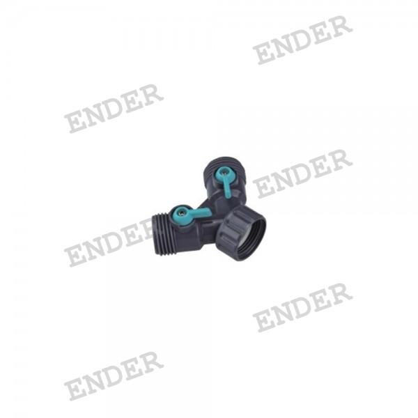 """Двойной кран Ender 3/4""""  (646023)"""