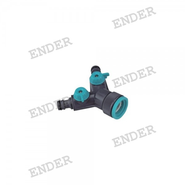 """Двойной кран Ender 3/4""""  1"""" (656024)"""