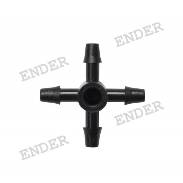 Четырехсторонний адаптер Ender, 5 мм для микротрубки, капельный полив (20053/1)