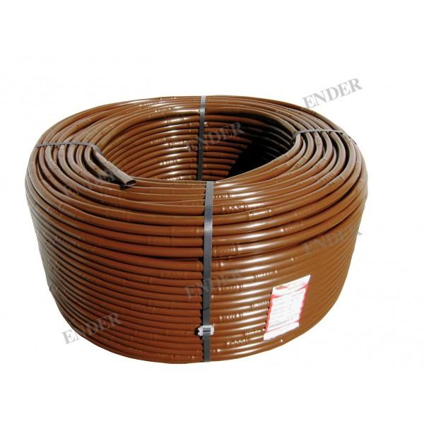 Капельная трубка коричневая Ender, капельницы через 20 см, диаметр 16 мм, длина 200 м  Турция (216220/200)