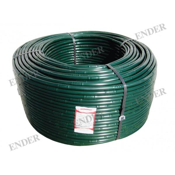 Капельная трубка зеленая Ender, капельницы через 20 см, диаметр 16 мм, длина 200 м  Турция (216220/З)